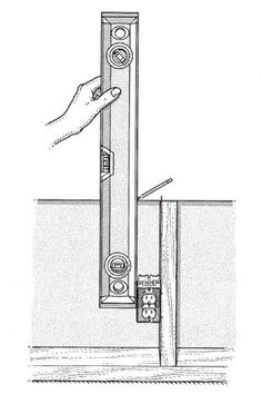 Norm Abram's tricks for making room for outlets in drywall. | Illustration: Harry Bates | thisoldhouse.com