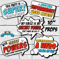 INSTANT DOWNLOAD Pop Art SuperHero Photo by LilFacesPrintables