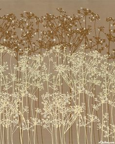 Queen Ann's Lace Borders in Cocoa/Silver from the 'Fairmount Park' collection by Lonni Rossi for Andover Fabrics