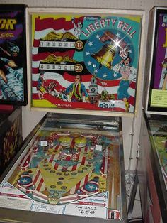1977 Williams Liberty Bell Pinball Wizard, Penny Arcade, Arcade Games, Game Room, Liberty, The Past, Childhood, Auction, Neon