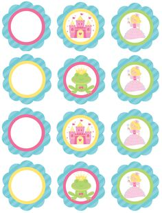cupcake toppers sheet fairytale.jpg (827×1086)