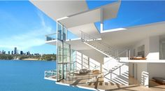 22 penthouses with 28 ft glass walls // Touzet Studio Penthouses, Glass Walls, Modern Spaces, Dream Houses, Studio, Service Design, Modern Architecture, Home Goods, Miami