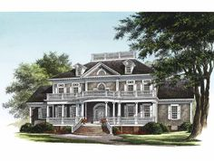 Eplans NeoClassical House Plan - The Breakwater - 3618 Square Feet and 4 Bedrooms from Eplans - House Plan Code HWEPL13970