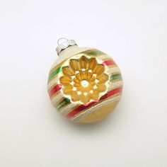 Vintage Christmas Glass Ornament Shiny Brite Indents by efinegifts on Etsy