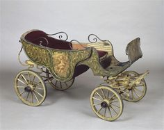 19th C child's carriage usually pulled by goat or large dog.