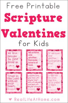 Religious Valentine Cards for Kids Looking to share some religious valentine cards this year? These free printable Scripture Valentines for kids are perfect for class or homeschool group parties, as well as to use as lunch box notes throughout the year. My Funny Valentine, Kinder Valentines, Valentine Crafts For Kids, Valentines Day Activities, Valentines Day Party, Valentine Ideas, Homemade Valentines, Valentine Box, Valentine Wreath
