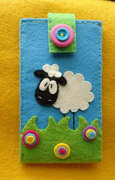 cute felt sheep case