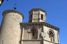 Santo Sepulcro de Torres del Rio. Iglesia romanica en el Camino de Santiago. Navarra