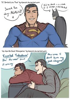 Clark and Bruce Doodles by Harseik.deviantart.com on @deviantART
