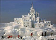 *Snow sculpture