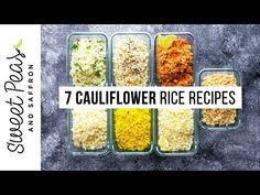 Let's make cauliflower rice! In this video, I'm showing you how to make it from scratch, plus SEVEN flavor variations so you'll never get bored. Making Cauliflower Rice, How To Make Cauliflower, Cauliflower Recipes, Cauli Rice, Rice Recipes, Whole Food Recipes, Keto Recipes, Cooking Recipes, Healthy Recipes