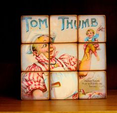 Story Time Puzzle Wood Blocks Nursery Room Decor by ChickenDoodles, $45.00