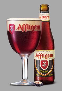 Affligem Dubbel is a reddish-brown Belgian Abbey ale brewed with dark (roasted) malts. The secondary fermentation process gives the ale a fruity aroma and a Beer Dip, Beers Of The World, Belgian Beer, Beer Brands, Beer Packaging, Beer Tasting, Beer Recipes, Beer Label, Best Beer
