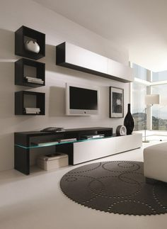 Amsterdam Combination-11335 Modern Wall Unit by Creative Furniture