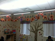 Halloween classroom decoration
