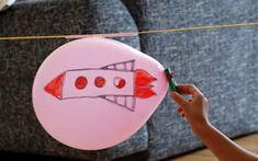 EXPERIMENTO: el globo veloz Space Activities, Autumn Activities, Science Activities, Science Projects For Kids, Science For Kids, Science And Nature, Sistema Solar, Space Theme, Space Party