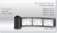 film photographer Standard Business Cards