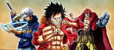 Supernova monster trio 3 rookie Captains Trafalgar D. Water Law, Monkey D. Luffy, Eustass Kid One piece