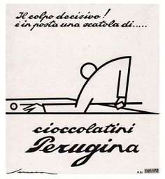 Another beautiful Federico Seneca illustration for Perugina's Kisses/Baci