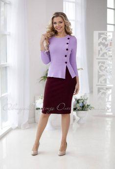Stylish knitted business purple suit Sofi.   Etsy