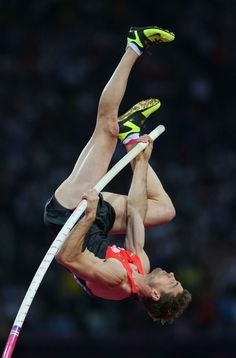 Bjorn Otto of Germany competes during the Men's Pole Vault Final on Day 14 of the London 2012 Olympic Games at Olympic Stadium on August 10 2012 in London England. Action Pose Reference, Human Poses Reference, Pose Reference Photo, Action Poses, Anatomy Reference, Benefits Of Cardio, Anatomy Poses, Pole Vault, Figure Poses