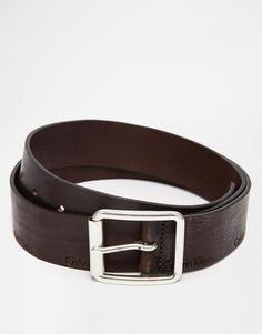 Belt by Calvin Klein Smooth, matte leather Standard belt strap Pin buckle fastening Embossed branding Wipe clean 100% Leather