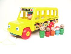 fisher price vintage toys - And the wheels on the bus go round and round...