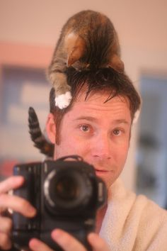 There's a cat on my head IMG_5583 by -Andrew-, via Flickr