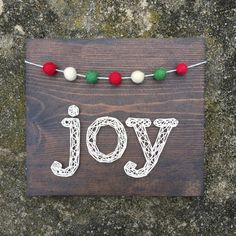 MADE TO ORDER String Art Joy Sign with by TheHonakerHomeMaker