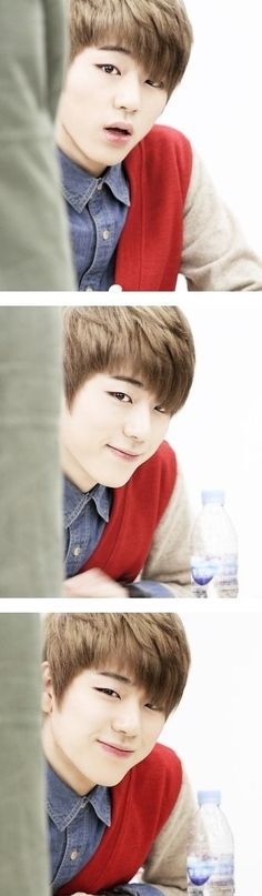 He looks so sweet and innocent in these pictures :) Zico <3