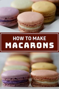 How To Make Macarons - The ingredients and how to make it please visit the website Best Dessert Recipe Ever, Best Easy Dessert Recipes, Dessert Recipes With Pictures, Light Dessert Recipes, Quick Easy Desserts, Light Desserts, Delicious Dinner Recipes, Sweets Recipes, Easy Recipes