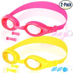 e755cd2b8ca8 COOLOO® Swim Goggles for Kids(From 3-15 Years old) · Swimming  GlassesSwimmersVivid ...