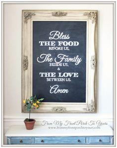 Chalkboard Art   Kitchen Chalkboard Art   Dining Room Art   Kitchen Print    Hand Lettering   Chalk Art | Frases Sobre Cozinha, Provérbios Da Cozinha E  Arte ...