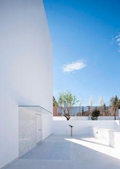 Acceso. Casa Cala por Alberto Campo Baeza. Fotografía @ Javier Callejas Sevilla.