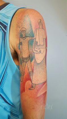 Tattoo de Pablo 2•sessão  Tropeiros da Borborema -  campina grande, o Pablo gostaria de representar sua terra natal com um monumento histórico porém estilizado. Aí está o resultado, obrigado pela confiança hoje é sempre. 13 Tattoo Shop (Boa Viagem) Barão de Souza Leão 335📍 ☎: 81.3055.1313 ________________________________ #tropeiros #campinagrande #arte #tattoos #ink #inked #inkedboy #tattooboy #inkedlovers #tropeirosdaborborema #watercolor #modern #design #makeyourself #makeunique #statues…