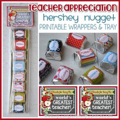 Hershey nugget crafts/wrappers on Pinterest | Trays ...