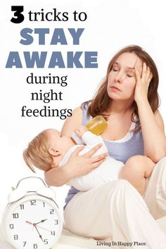 Feeding baby in the middle of the night can be one of mom's biggest challenges. Until baby stops or drops night feedings and sleeps through the night, use these tips to get through night feedings. Keep yourself awake during night time feedings. #baby #babies #nursing #nightfeedings #parenting