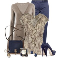 """""""Last Navy & Taupe"""" by justjules2332 on Polyvore"""