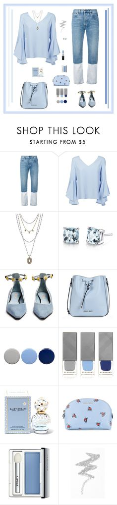 """""""Blue Monday"""" by sherry7411 on Polyvore featuring Ports 1961, Dondup, Lucky Brand, Oravo, Fabrizio Viti, Armani Jeans, Burberry, Marc Jacobs, Miu Miu and Clinique"""