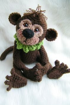 Monkey Crochet Pattern PDF format by thewoolpurl on Etsy, $4.95