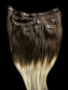 16inches 7pcs Clip In Human Ombre Hair Extensions T4/613
