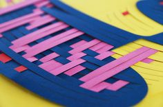 Bart Vollebregt Love Breathe & Trust #poster #paper #weave #woven #lasercut #typography in Tactile