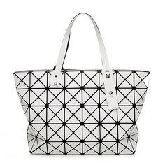 91b1166077 Baobao 7 8 Matte Brushed Folding Tote Geometric Japanese Style Handbag  Baobao Bag