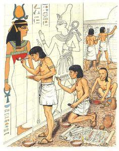 Desenhos para Colorir: Desenhos para Colorir Vida no Antigo Egito