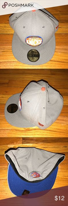 33f9ff4b278 New York Knicks New Era Grey 59FIFTY Fitted Hat Pre-owned New York Knicks  New Era Grey Authentic 59FIFTY Fitted Hat GREAT CONDITION  Size 7 3 4 Will  ship ...