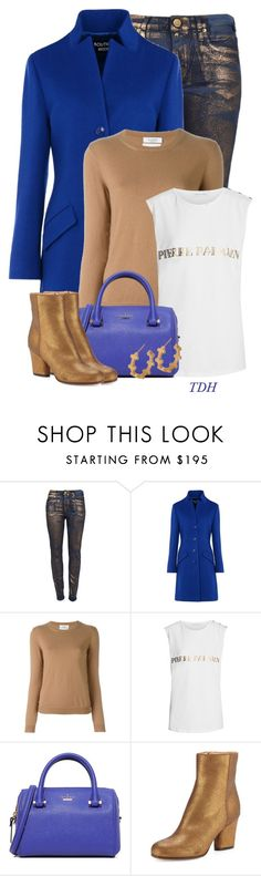 """""""Denim Jeggings"""" by talvadh ❤ liked on Polyvore featuring Boutique Moschino, Valentino, Pierre Balmain, Kate Spade, Maison Margiela and Amberly Cross"""