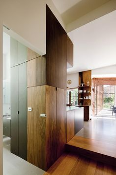 Step down from the kitchen ... polished concrete floor? © Shannon McGrath