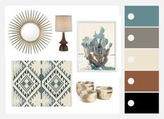 Explore a beautiful, comfortable combination of styles with this Southwestern Mi. Explore a beautiful, comfortable combination of styles with this Southwestern Mid-Century Mashup mood board plus inspiration and decorating tips. Southwest Style, Modern Southwest Decor, Southwest Bedroom, Southwestern Home, Southwestern Decorating, Southwest Art, Hippie Living Room, Living Room Decor, Living Rooms