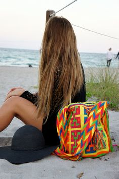 Wayuu Mochila Wayuu bag Colombian bag Beach by AllGirlsneed