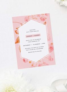 Pink Wedding Collections by Sail and Swan. Telling Your Story in a Beautiful Way with Exquisite, Bespoke Floral Wedding Stationery. Pastel Wedding Invitations, Floral Wedding Stationery, Wedding Invitations Online, Floral Invitation, Floral Wedding Invitations, Invites, Botanical Wedding Theme, Pink Wedding Theme, Rose Wedding